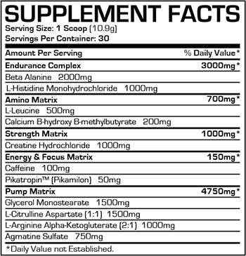 Dr jekyll pre workout ingredients