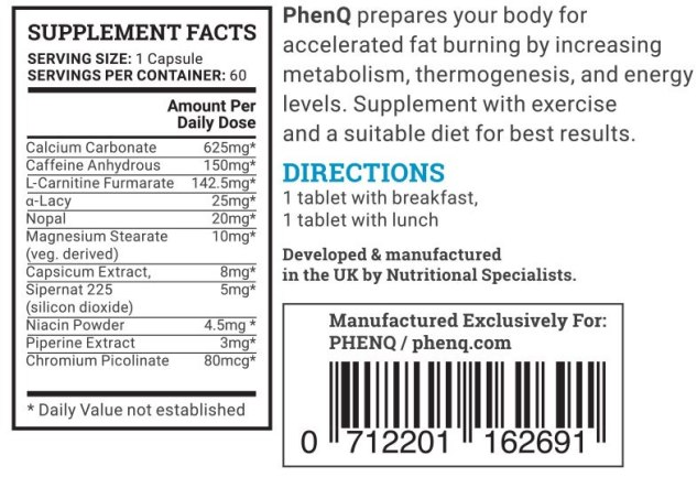 phenq-fat-burner-ingredients