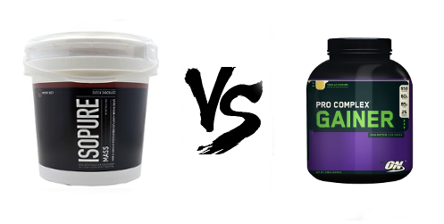 isopure-mass-vs-pro-complex-gainer